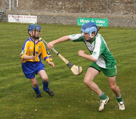 Action from the 2010 county Féile hurling finals.