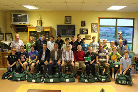 Scenes from the Aodh Ruadh Hurlers' F�ile send off party.