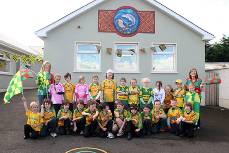 Gaelscoil Eirne ready for Sam.
