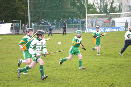 Action from the unde 12 game that took place at time in the Donegal v Dublin NFL game on March 2009.