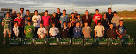 Feile hurlers get a fine send off.