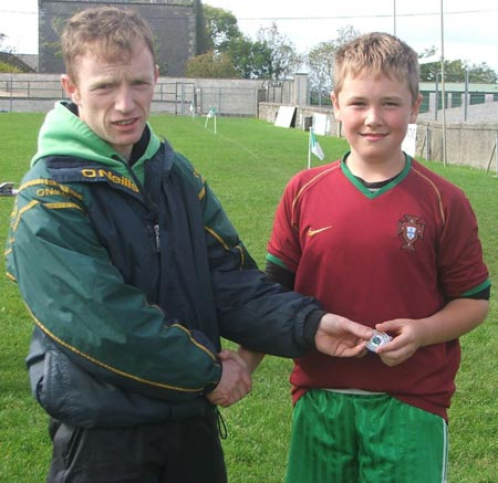 Fifth in the under 14 skills, Gareth Sheerin.