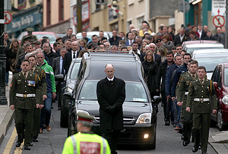 The funeral of John Larkin.