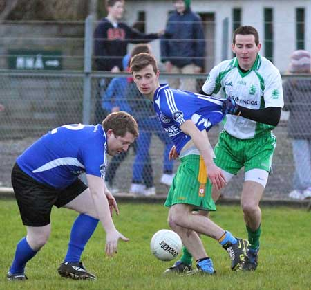 Action from the inaugural Colman Kerr Charity Match.