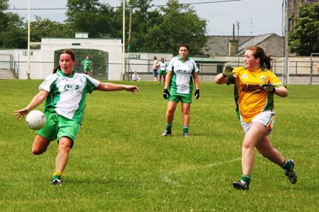 Action from the Aodh Ruadh v Naomh Columba intermediate championship clash.