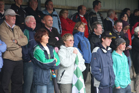 Aodh Ruadh supporters at the Ladies Intermediate Final.