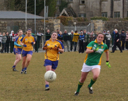 Donegal v Clare in the Ladies NFL.