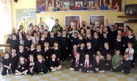 Holy Family National School welcomes the Lory Meagher heroes.