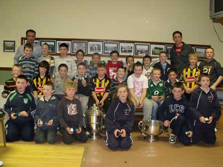 Under 12 Fermanagh league winners with John Rooney (manager) Peter Horan (selector) and Michael Fennelly.