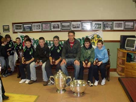 Aodh Ruadh's representatives on Donegal under 14 development squad Eddie Lynch, Tommy gillespie, Jamie McDonald, Michael Fennelly, Colm Kelly and Jamie Brennan.
