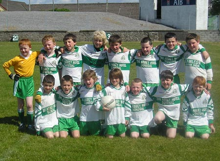 The Aodh Ruadh 'B' team which took part in the Mick Shannon under 10 tournament in Ballyshannon last Saturday..