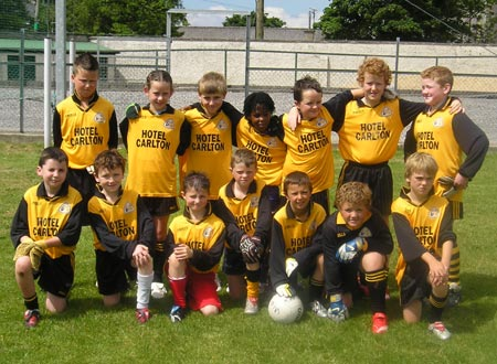 The Erne Gaels 'A' team which took part in the Mick Shannon under 10 tournament in Ballyshannon last Saturday..