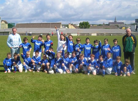 The Melvin Gaels 'A' and 'B' teams which took part in the Mick Shannon under 10 tournament in Ballyshannon last Saturday..