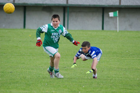 Action from the Saint Naul's v Naomh Chonaill game.