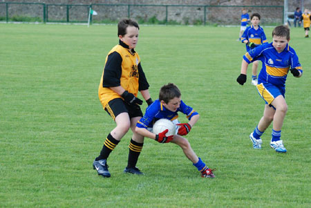 Action from the Erne Gaels v Kilcar game.