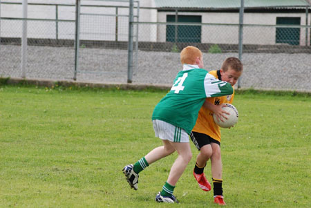 Action from the Bundoran v Saint Naul's game.