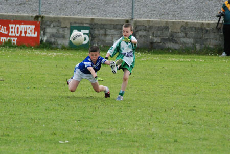 Action from the Aodh Ruadh v Naomh Chonaill game.