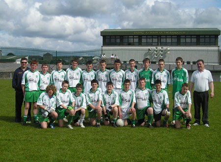 The Aodh Ruadh team which took part in the PJ Roper Under 16 tournament in Ballyshannon last Saturday.
