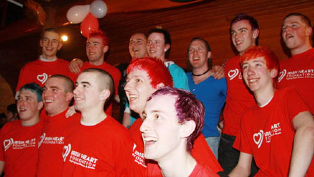 Some shots from the Shave or Dye fund-raiser.
