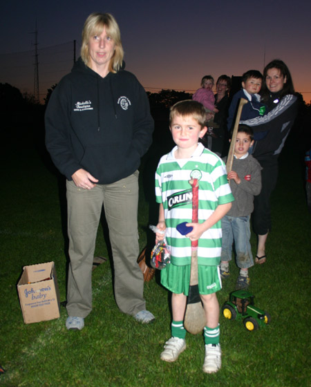 Pauric Keenaghan third place in the under 8 skills competition accepting his medal from Eleanor Rooney.