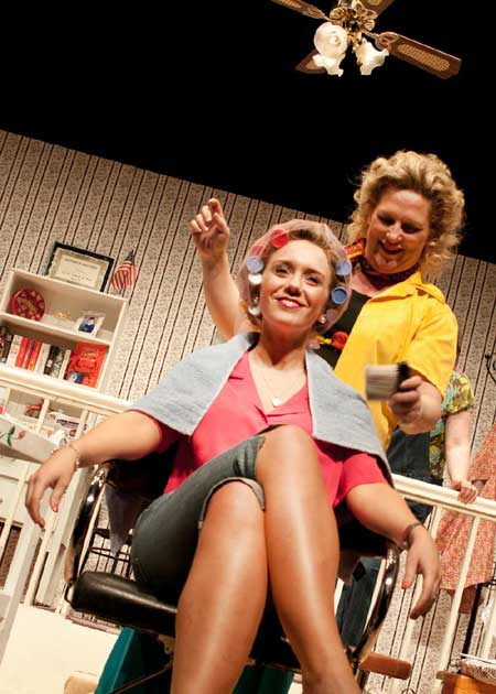Some of the action from the Ballyshannon Drama Society's All-Ireland winning Steel Magnolias.