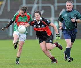 Terence McShea referees the junior All-Ireland club final.