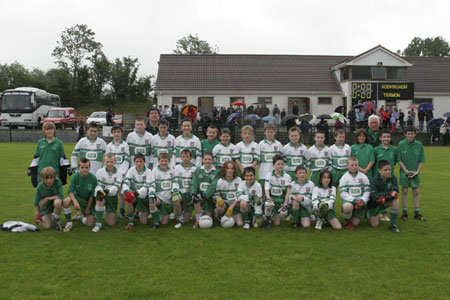 The Aodh Ruadh team before the under 12 county final.