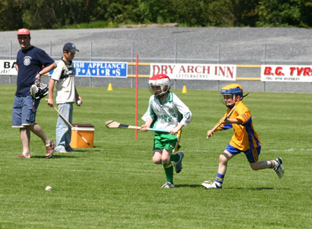 Action from the under 12 hurling blitz in Letterkenny.