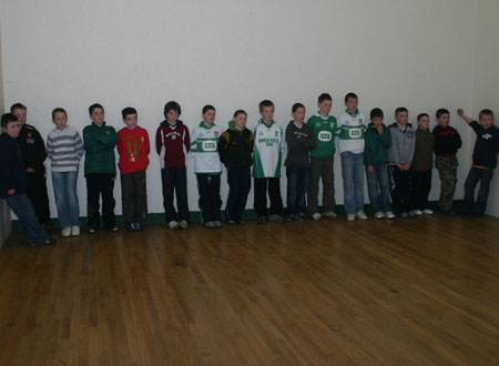 Aodh Ruadh under 12 hurlers listen to Alan Kerins, Galway senior hurling star, after the interprovincial games in Ballybofey on Saturday 20th October.