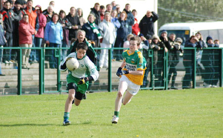 Action from the under 14 county final.