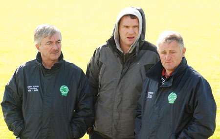 Aodh Ruadh's Mick McGrath, Paddy Kelly and Terence McShea.