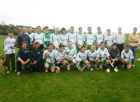 The Aodh Ruadh minor hurling team and mentors who claimed the County Championship title on Sunday 21st October in Tir Chonaill Park, Donegal town.