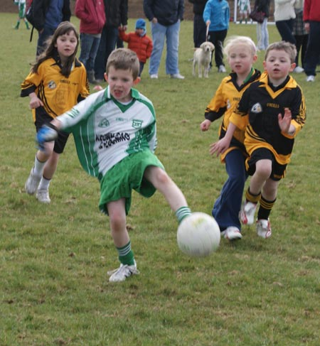 Action from the Aodh Ruadh v Bundoran under 8 blitz.