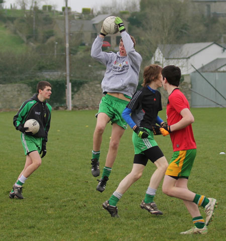 Action from the under 16 training.
