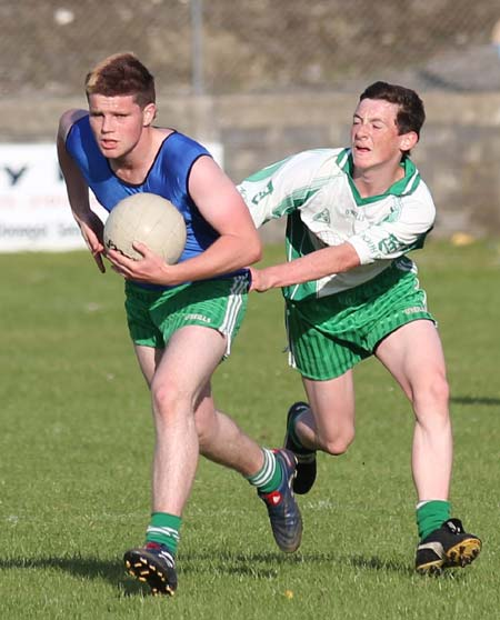Action from the under 16 v minors match.