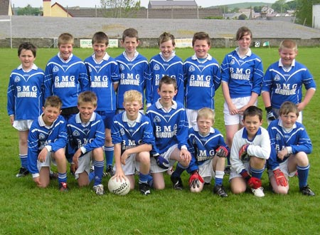 The Melvin Gaels team from Kinlough, County Leitrim which took part in the Willie Rogers Under 12 tournament in Ballyshannon last Saturday.